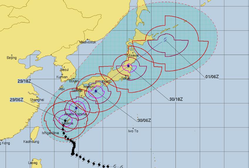 台風24号進路