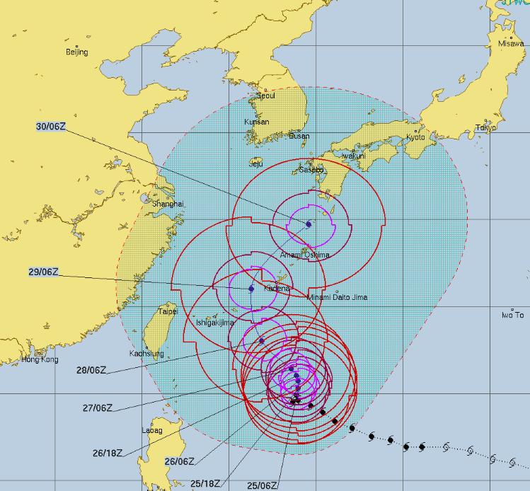 台風24号 予想