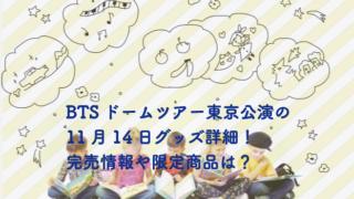 BTS 東京ドームライブ グッズ